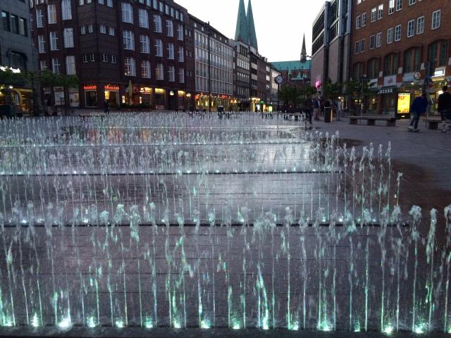 Wasserspiel in Lübeck