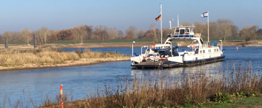 Noch setzt die Fähre Tanja bei Neu Darchau über die Elbe.