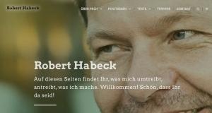 Bei Twitter und Facebook meldet sich der Grünen-Chef ab. Screenshot: Homepage Habeck