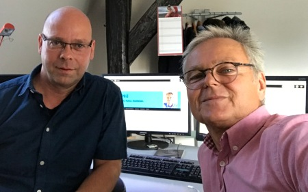 Ulf Reinhardt und Blogger Hans-Herbert Jenckel.