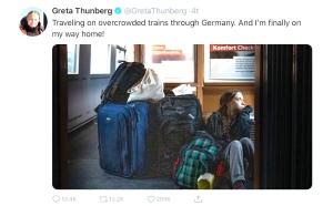 Thunberg twittert