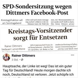 LZ-Schlagzeilen und Facebook-Post